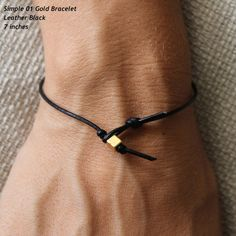 B401GDL einfache 01 Gold LederArmband von cololinks auf Etsy