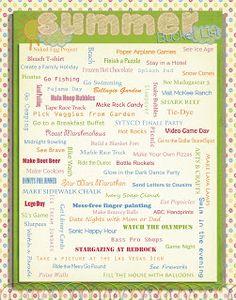 Life's Little Moments: Summer Bucket List 2012