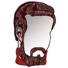 monsieur mirror - hmmm always wondered what I'd look like with a fancy mustache