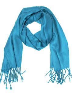 Lightweight Acrylic Solid Scarf - Teal