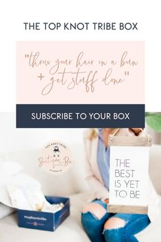 The Top Knot Tribe Box – Throw Your Hair in a Bun and Get Stuff Done. Introducin… - business ideas for women Starting An Online Boutique, Opening A Boutique, Best Subscription Boxes, Box Tops, Starting Your Own Business, Marketing, Top Knot, Getting Things Done, Bun Hairstyles