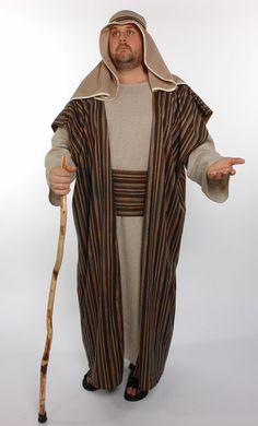 Shepherd/innkeeper - use orange for innkeeper vest & sash, use beard and hat; for shepherd change to brown striped accents,  add head wrap, lose beard, add hook
