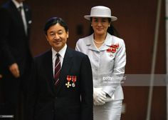Crown Prince Naruhito and Crown Princess Masako attend the Blood Donation Promotion National Meeting at the Meiji Jingu Kaikan Hall on July 7, 2016 in Tokyo, Japan.