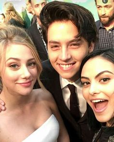 Lili Reinhart, Cole Sprouse, and Camila Mendes