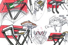 Research sketches for bike carrier