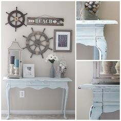 DIY & Crafts - Home Decor: A Gorgeous Coastal Console Table Makeover