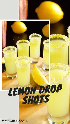 This lemon drop jello shots recipe made with vodka and Limoncello tastes like a lemon drop martini--a tasty boozy treat for any adult party Lemon Drop Jello Shots Recipe, Jello Shot Recipes, Drinks Alcohol Recipes, Drink Recipes, Salad Recipes, Lemon Drop Drink, Lemon Drop Shots, Lemon Drop Martini, Kid Drinks