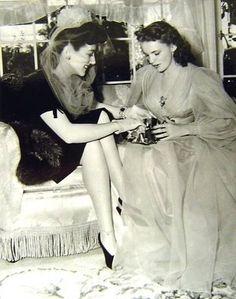 Joan Crawford gives Judy Garland a wedding present