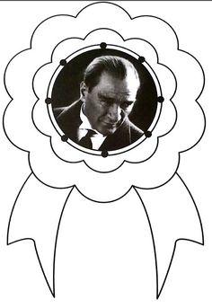 ATATÜRK ,  #Atatürk Preschool Crafts, Crafts For Kids, Printable Crafts, Baby Games, Early Childhood Education, Kids Education, Preschool Activities, Mandala, Photo And Video