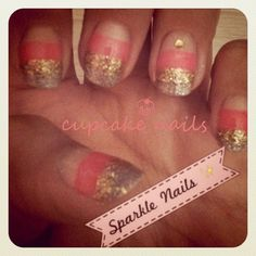 sparkle nails of mine =)