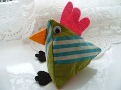 Fabric Chicken in Funky Fabric by MoonDreaming on Etsy, £8.00