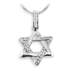 Ashley Arthur .925 Silver White Crystal Jewish Star of David Pendant Made with Swarovski Elements Ashley Arthur http://www.amazon.com/dp/B00A6YHZIU/ref=cm_sw_r_pi_dp_geCTtb0GD3650HWD