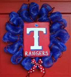 Texas Rangers Spirit Wreath