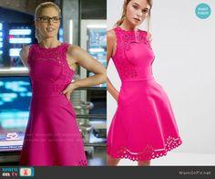 2ec6a4d3d0c530 Felicity s pink lace a-line dress on Arrow