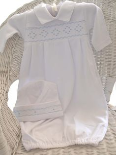 Baby Boys Smocked Layette Gown  - Kissy Kissy