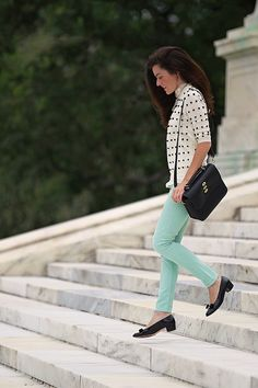 Pink Peonies: Her Go-To Day Look: Classy Girls Wear Pearls...