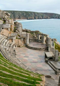 The Minack Theatre, an open-air theatre that's cut into the cliff face. | Porthcurno - Cornwall - England