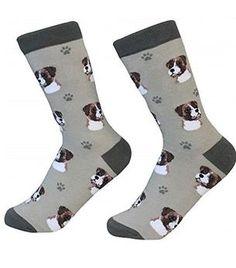 Boxer Socks Needle Count-Cotton Socks- Life Like Detail of Boxer - Unisex, Beige, One Size Fits Most Body Sock, Dog Socks, Crew Socks, Boxer Puppies, Novelty Socks, Best Wear, Cotton Socks, Animal Shelter, Dog Breeds