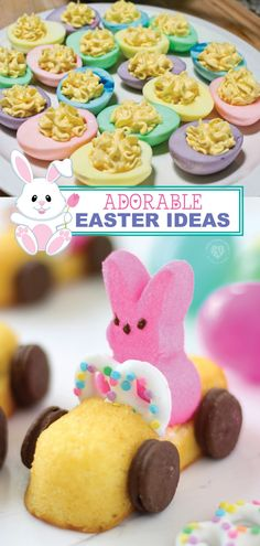 Recipes Snacks Finger Foods Adorable DIY Easter ideas treats Colored Deviled Eggs for Easter Easter Dinner, Easter Party, Easter Table, Easter Brunch, Easter Gift, Easter Dyi, Holiday Treats, Holiday Recipes, Recipes Dinner