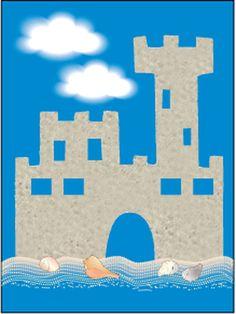 Sandpaper Castle, Lesson Plans - The Mailbox Preschool Projects, Preschool Letters, Alphabet Activities, Preschool Classroom, Classroom Themes, Preschool Ideas, Crafts For Kids, Sand Castle Craft, Castle Crafts