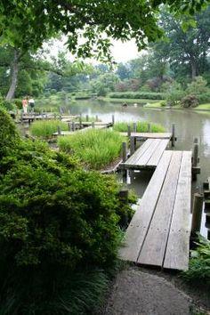 Japanese Bridge At Missouri Botanical Garden