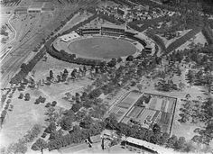 HISTORY: Aerial view of the Melbourne Cricket Ground, Melbourne, 1928 Melbourne Victoria, Victoria Australia, Melbourne Australia, Melbourne Cbd, Melbourne Suburbs, St Kilda, Historical Pictures, Landscape Photos, Aerial View