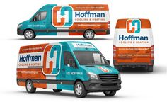 Best truck wraps, ehicle wrap design for Hoffman Cooling & Heating, an HVAC contractor in Minnesota. Wrap Advertising, Advertising Services, Advertising Design, Vehicle Signage, Vehicle Branding, Eco Friendly Cars, Van Wrap, Lifted Ford Trucks, Car Ford
