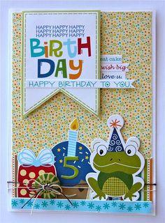 Birthday Boy card in conjunction with celebrating World Cardmaking Day. By Jennifer Edwardson for Bella Blvd.