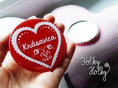 Zrkadielko Krásavica 2 by FolkyHolky - SAShE.sk - Handmade Zrkadielka