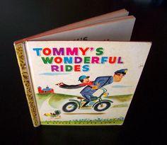 Vintage Children's Book - Tommy's Wonderful Rides - 1948. by MoonkittensTimeline
