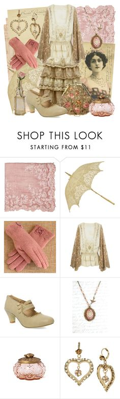 """""""Sepia Rose"""" by larkspurlane ❤ liked on Polyvore featuring Faliero Sarti, RGLT Scarves, Anthropologie, Betsey Johnson, Cultural Intrigue and vintage"""