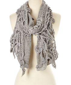 Gray Linen-Cashmere Blend Scarf by Pretty Angel #zulily #zulilyfinds