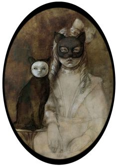 Cat and Girl by Beatriz Martín Vidal