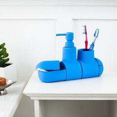 Seletti Submarino Bath Set Azure Blue