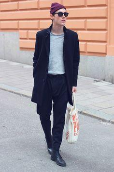 Clarks beanie coat men Style tumblr