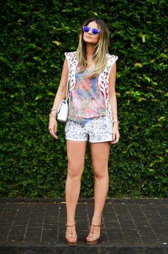 Meu look - White details! | Blog da Thássia