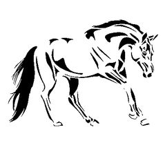 glass etching horse stencils - Google Search