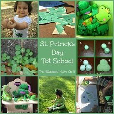 St. Patrick's Day Activities for Toddlers. Green Themed Tot School from The Educators' Spin On It