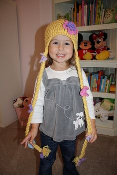 Rapunzel braid hat....perfect for a cold Michigan halloween.