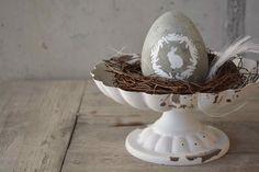 Die Eier, die unsere Hühner legen, sind praktischerweise immer noch schön dekoriert…