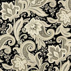 Upholstery Fabric K6467 Onyx Marine, Outdoor/Indoor, Print