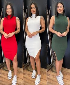 Best Casual Outfits, Classy Outfits, Casual Dresses, Cute Outfits, Black Girl Fashion, Asian Fashion, Chuck Taylor Style, Dress Outfits, Fashion Outfits