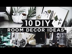 10 DIY Room Decor Ideas for 2017 (Tumblr Inspired) 💡 ✂️ 🔨 Minimal & Affordable! - YouTube