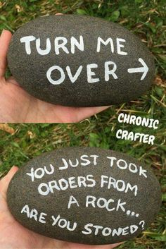 Be inspired with 20 of the Best Painted Rock Art Ideas, You Can do! Easy DIY tutorials that are trendy and therapeutic. Be inspired with 20 of the Best Painted Rock Art Ideas, You Can do! A trendy and therapeutic craft that includes easy DIY tutorials. Rock Crafts, Diy Crafts, Stone Crafts, Crafts With Rocks, Budget Crafts, Garden Crafts, Resin Crafts, Creative Crafts, Bead Crafts