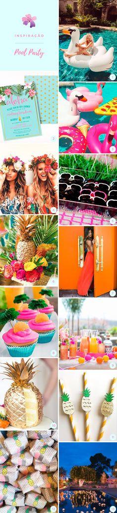 """¿Te apetece una Fiesta de XV años distinta?, Un pool Party es la Mejor Opción y lo Mejor es que se ha vuelto una Moda. Como no podía ser de otra manera, el diseño de una """"Fiesta en la Piscina"""" debe de estar lleno de color y decoración tropical, las flores, el follaje verde y los frutos refrescantes como la piña y el coco, están presentes en absolutamente toda la temática."""