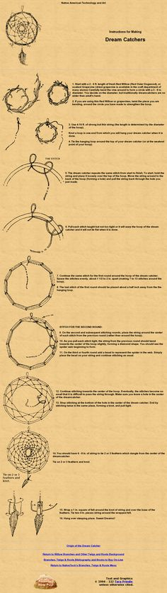 Instructions on how to make a dream catcher