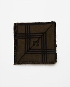 Image 2 of HOUNDSTOOTH JACQUARD SCARF from Zara