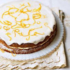 Orange buttercream tort from & Hertha& Viennese Kitchen& Summer Cake Recipes, Summer Cakes, Best Cake Recipes, Other Recipes, Best Birthday Cake Recipe, Cool Birthday Cakes, Orange Buttercream, Afternoon Tea Recipes, Caramel Apple Cheesecake