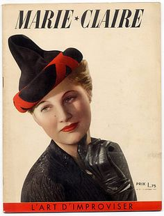 Marie Claire 1938 N°31 Sacha Guitry Princesse Bibesco 1930s Hats, 1920s,  French 9ae8cc9b820