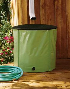 Get a rain barrel  Use the water for plants and you'll save on your water bills.